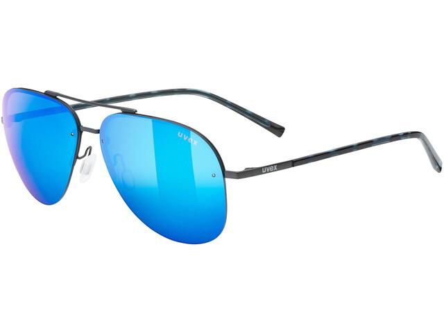 UVEX LGL 40 Glasses gun mat/mirror blue